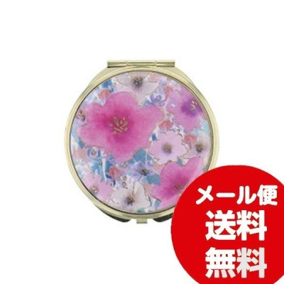 ミラー 等倍鏡 拡大鏡 FLOWERING フラワーリング ミラー お花 ピンク GMR0144-PK