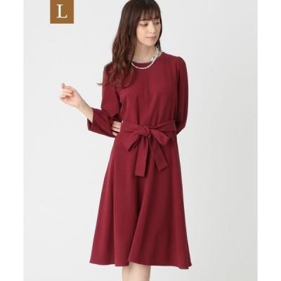 ドレス 【L】スウェードタッチジャージドレス