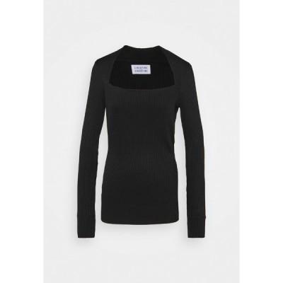 リバティーン リバティーン カットソー レディース トップス TONE - Long sleeved top - black
