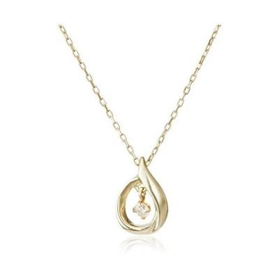 [ディーコレクション] D-COLLECTION 10金イエローゴールドダイヤモンドネックレス 0.03ct DPD50230YG-