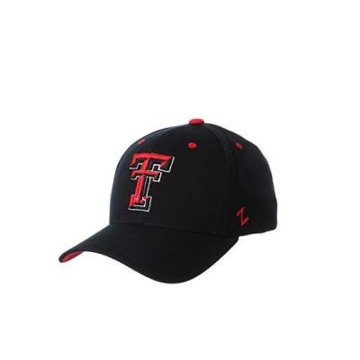 Zephyr NCAA メンズ ZH 伸縮性 フィット キャップ Medium/Large ブラック