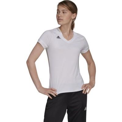 アディダス adidas レディース バレーボール トップス Team Quickset Short Sleeve Jersey White/Black