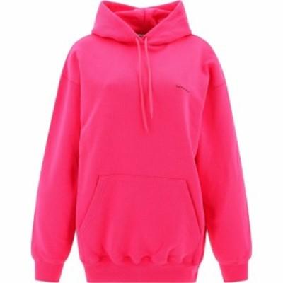 バレンシアガ Balenciaga レディース パーカー トップス Hoodie With Logo Print Pink