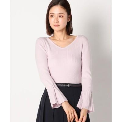 MEW'S REFINED CLOTHES / ベルスリーブパールピン付ニット WOMEN トップス > ニット/セーター