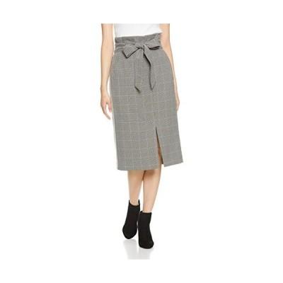 ナラ カミーチェ チェックロングタイトスカート レディース 30-82-08-948 グレー 日本 M (日本サイズ9 号相当)