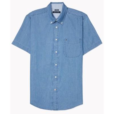 トミー ヒルフィガー メンズ シャツ トップス Men's Custom-Fit Benny Twill Shirt with VELCRO® Closure