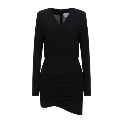 VIRNA DRÒ® ミニワンピース&ドレス ブラック 38 ポリエステル 95% / ポリウレタン 5% ミニワンピース&ドレス