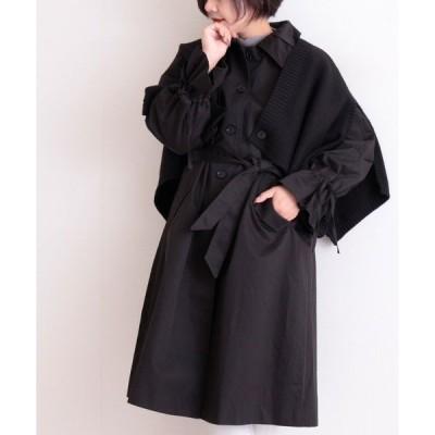 コート トレンチコート フレアリボン袖のAライントレンチコート