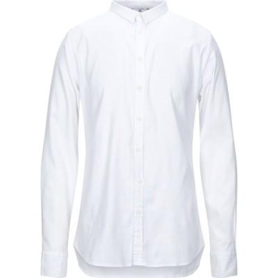 ハマキホ HAMAKI-HO メンズ シャツ トップス solid color shirt White