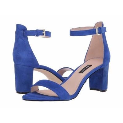 ナインウェスト ヒール シューズ レディース Pruce Block Heel Sandal Blue Iris