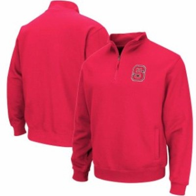Colosseum コロセウム スポーツ用品  Colosseum NC State Wolfpack Red Team Logo Quarter-Zip Pullover Jacket