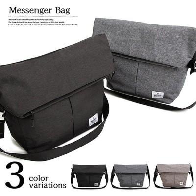 折り返し ショルダーバッグ メッセンジャーバッグ メンズ 変形 ナイロン 無地 鞄 カバン バッグ