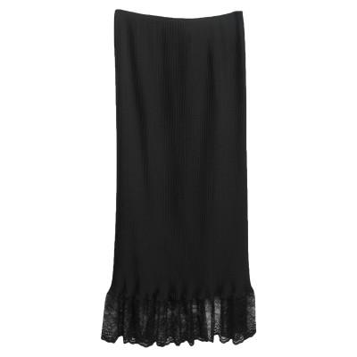 パコ ラバンヌ PACO RABANNE ロングスカート ブラック 36 アセテート 79% / シルク 15% / ナイロン 6% / ナイロン