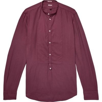 マッシモ アルバ MASSIMO ALBA メンズ シャツ トップス solid color shirt Garnet