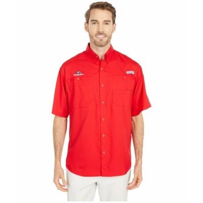 コロンビアカレッジ シャツ トップス メンズ Georgia Bulldogs Tamiami Short Sleeve Shirt Bright Red