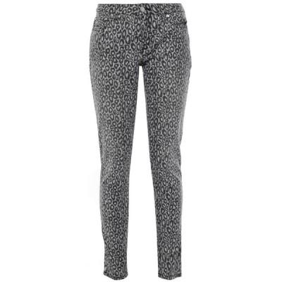 マイケル コース MICHAEL MICHAEL KORS レディース ジーンズ・デニム ボトムス・パンツ izzy leopard-print mid-rise slim-leg jeans Light gray