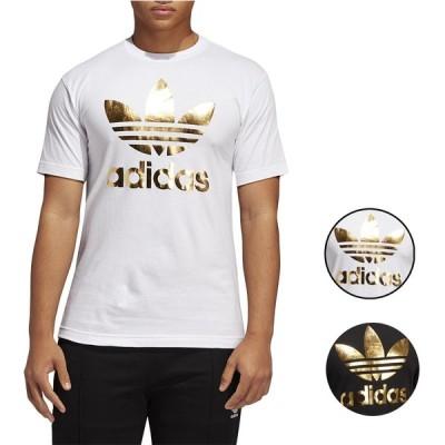 アディダス Tシャツ ロゴT メンズ 半袖 オリジナルス ホワイト/ブラック/ゴールド トレフォイルMen's adidas Originals Trefoil T-Shirt White Black Gold