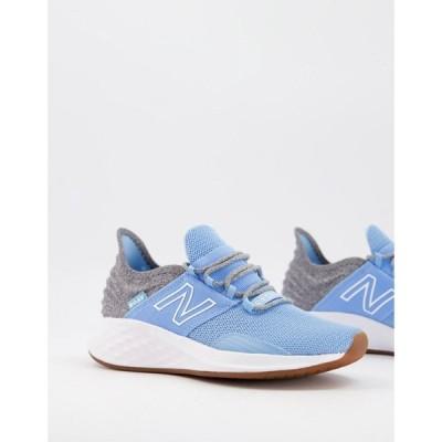 ニューバランス New Balance レディース ランニング・ウォーキング シューズ・靴 Running Roav trainers in soft blue ソフトブルー
