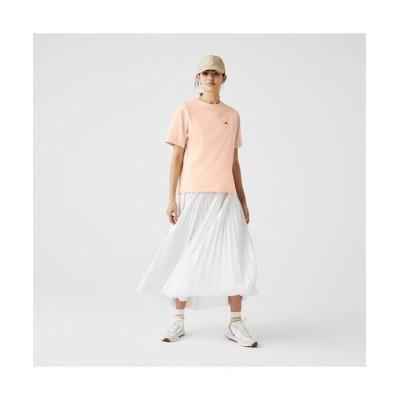 LACOSTE/ラコステ クラシックフィット  プレミアムコットンTシャツ ライトピンク 40(XL)