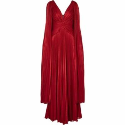 ノッテ バイ マルケッサ Marchesa Notte レディース パーティードレス ワンピース・ドレス Pleated lame cape gown Red