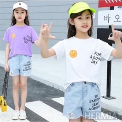 ジャージ キッズ 女子 上下 半袖 春夏 子供服 セットアップ 2点セット Tシャツ パーカー ショートパンツ スポーツウェア 運動着 可愛い