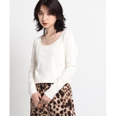 【ジェット】 スクエアネックロングTシャツ レディース ホワイト 04(M) JET