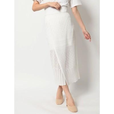 dazzlin クロシェレディライクタイトスカート(オフホワイト)