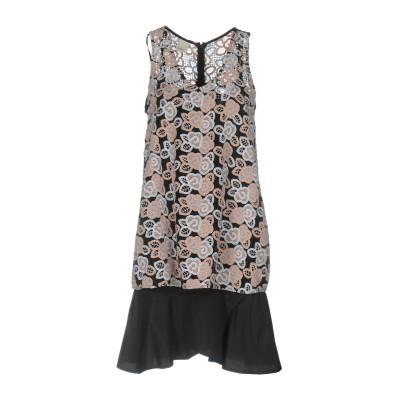 ピンコ PINKO ミニワンピース&ドレス ブラック 42 100% ポリエステル ミニワンピース&ドレス