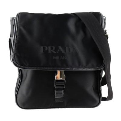 美品 PRADA プラダ VA0770 ショルダーバッグ ナイロン レザー ブラック【本物保証】