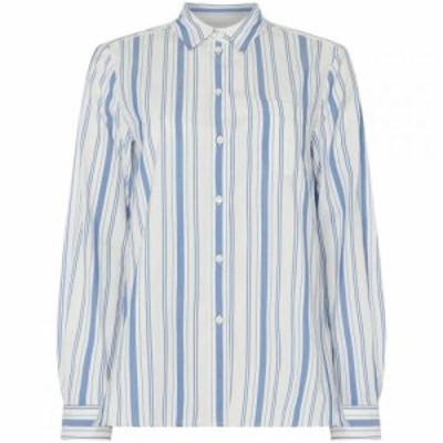 マックスマーラ Max Mara Weekend レディース ブラウス・シャツ トップス canova striped shirt with pocket White