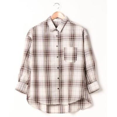 Samansa Mos2 / チェックシャツ WOMEN トップス > シャツ/ブラウス