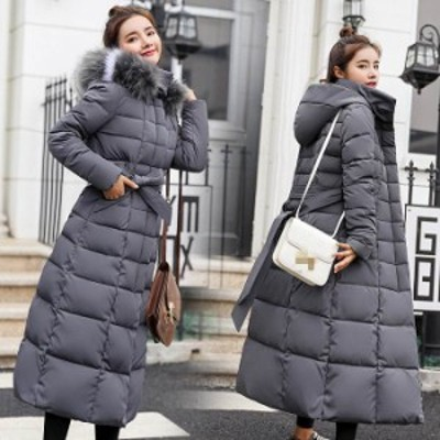 冬 ロング丈 中綿 ジャケット ダウンコート  レディース アウター コート ロングダウンコート ロングコート 取り外せる フード付き