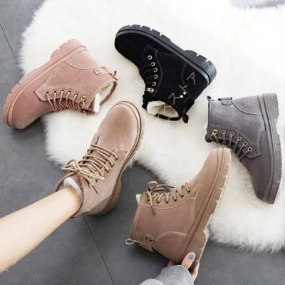 スノーシューズ スノーブーツ レディース 冬用 防寒靴 ハイカット靴 ショートブーツ 裏起毛 暖かい 厚底 スニーカー 雪用 ウィンターブーツ マーティンブーツ