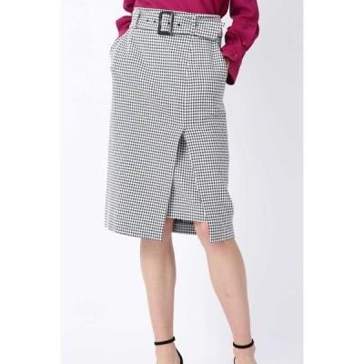 PINKY & DIANNE / ピンキーアンドダイアン ◆ギンガムストレッチラップレイヤードスカート