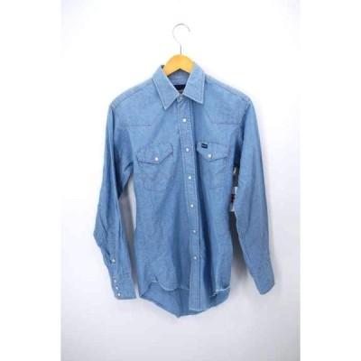 ラングラー Wrangler 90S シャンブレーウエスタンシャツ メンズ  中古 210120
