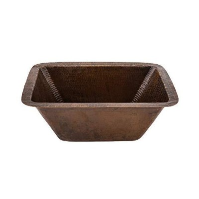 Premier Copper Products BRECDB3 Universal Rectangle Copper Sink with 3.5-Inch Drain Size, Oil Rubbed Bronze [並行輸入品]