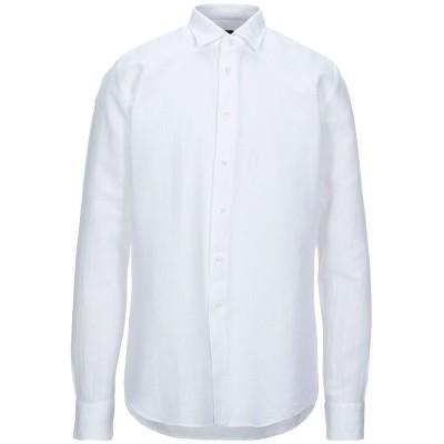 B>MORE シャツ ホワイト 43 リネン 58% / コットン 42% シャツ
