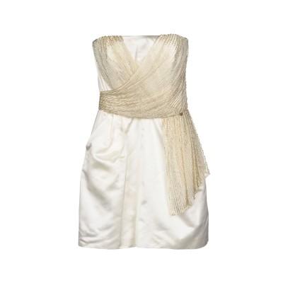 ELISABETTA FRANCHI GOLD ミニワンピース&ドレス アイボリー 42 ポリエステル 100% ミニワンピース&ドレス