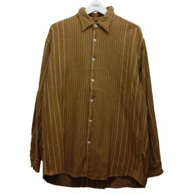 【12月7日値下】NOMA t.d. 20AW「Pin Stripe Shirts」ピンストライプシャツ ブラウン サイズ:4 (中目黒店)