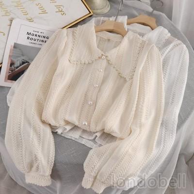 3color シースルー トップス ブラウス 透け感 レディース 長袖 カーディガン 前開き とろみシャツ ゆったり UVカット 薄手 紫外線対策 冷房対策 セクシー