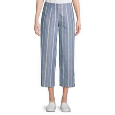 ラファイエット148ニューヨーク レディース パンツ Kenmare Striped Cropped Pants
