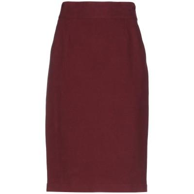 チルコロ 1901 CIRCOLO 1901 7分丈スカート ボルドー 40 コットン 95% / ポリウレタン 5% 7分丈スカート