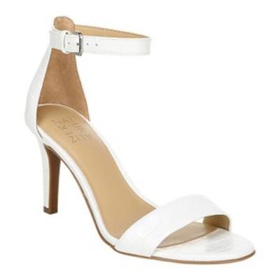 ナチュライザー レディース サンダル シューズ Leah Ankle Strap Heeled Sandal White Croco Glazed Synthetic