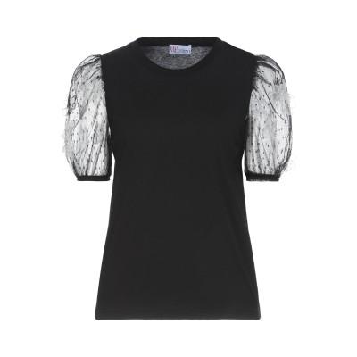 レッド ヴァレンティノ REDValentino T シャツ ブラック XS コットン 100% / ナイロン / ポリエステル / シルク T シ