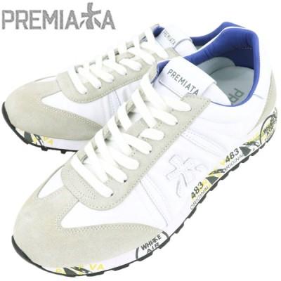プレミアータホワイト PREMIATA WHITE メンズ スエード ナイロン ローカットスニーカー LUCY 206EA(ホワイト)