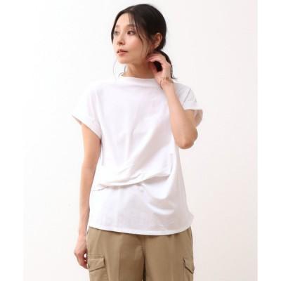tシャツ Tシャツ ドレープデザインTシャツ