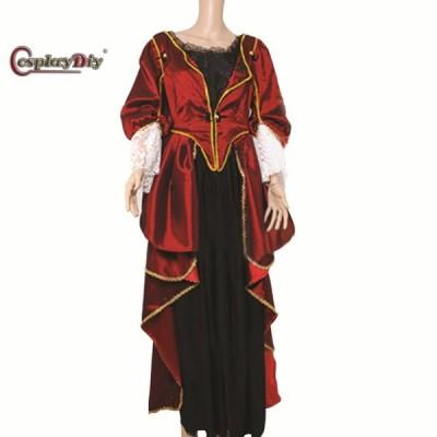 高品質 高級コスプレ衣装 パイレーツ・オブ・カリビアン 風 エリザベス・スワン タイプ Pirates Of The Caribbean Elizabeth Swann Dress