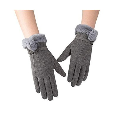 手袋 レディース Candybay グローブ 裏起毛 スエード 保温 防寒 通学 通勤 保温性抜群 五本指 スエード 冬 秋 かわ