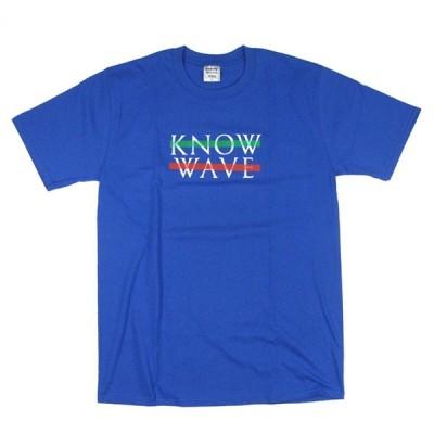 KNOW WAVE ノウウェーブ ロゴ 半袖Tシャツ BLUE メンズ トップス ストリート / KW16