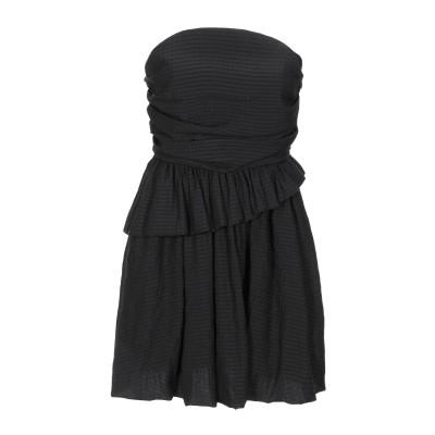 WEILI ZHENG ミニワンピース&ドレス ブラック S コットン 80% / ポリエステル 20% ミニワンピース&ドレス